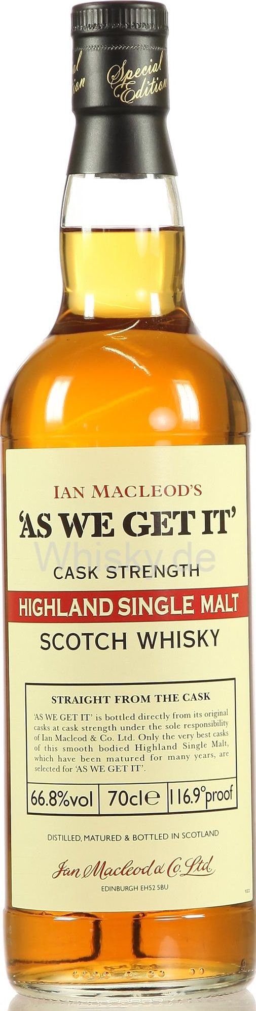 As We Get It - Highland Single Malt